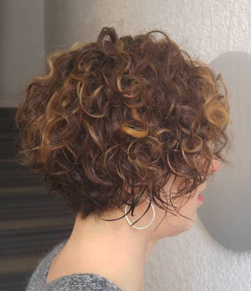 most delightful short wavy hairstyles brunette bob curly and
