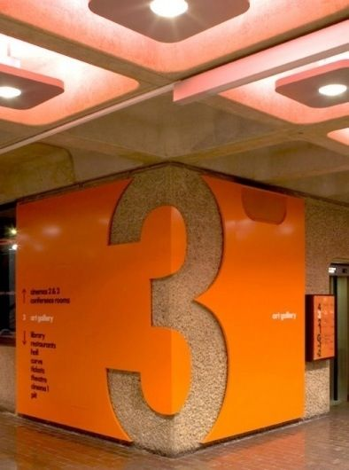 9d22cf1a44 Have signs wrap around walls. Have ceilings reflect colors in walls