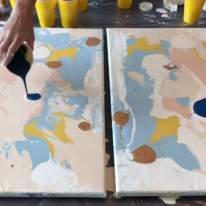 Pouring Acrylic Paint On Canvas Pouring Acrylic Paint on Canvas Wall Art canvas wall art