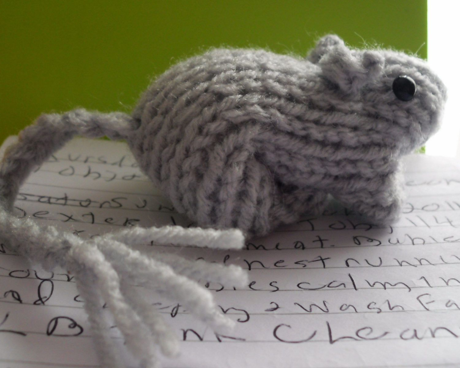 Knitting Patterns Animals Easy : Free Knitting Pattern for Gerbil Toy - This easy toy gerbil is made by knitti...