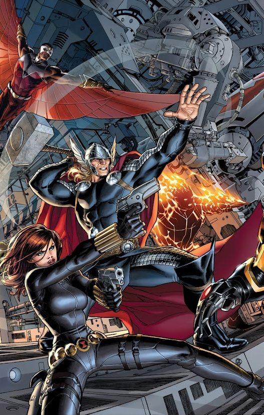 #Avengers #Fan #Art. (Avengers Vol.5 #2 Cover) By: Dustin Weaver. (THE * 5 * STÅR * ÅWARD * OF: * AW YEAH, IT'S MAJOR ÅWESOMENESS!!!™)[THANK U 4 PINNING!!!<·><]<©>ÅÅÅ+(OB4E)
