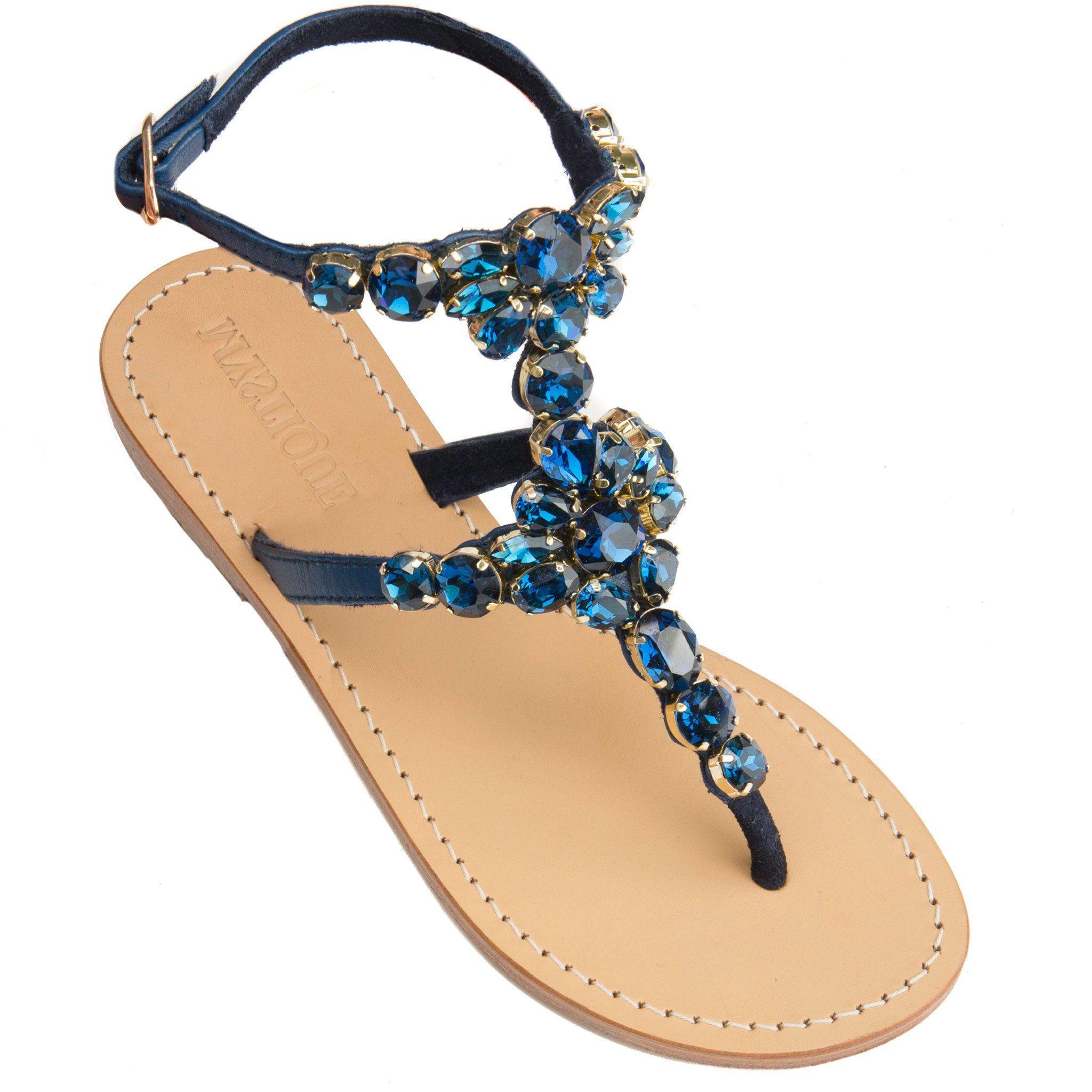 bca3e560cc5d5 Mystique Women s Leather Jeweled Sandals - Vancouver – Mystique Sandals