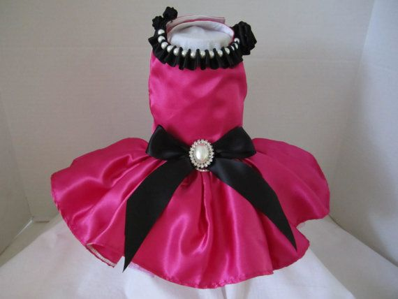 Dog Dress XS Hot Pink with Black By Nina\'s Couture Closet- so many ...