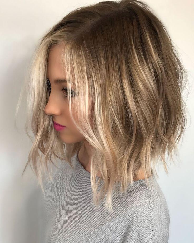 Ombre Highlights Sweep 2018 Dunkel Brunett Blond Usw Haar Ideen Blond Brunett Dunke Haarschnitte Fur Feines Haar Haarschnitt Bob Frisuren Haarschnitte