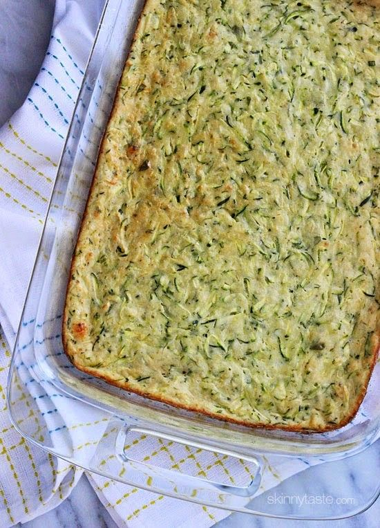 A great recipe for zucchini lovers – makes a great side dish.  I am always looking for great recipes for zucchini since I have so many in my garden! This recipe was first published in 2008 but had some minor issues with the center not cooking through, so I retested this and now it comes out perfect.    Zucchini Casserole  Skinnytaste.comServings: 12  Serving Size: 1 square • Points +: 3 pts • Smart Points: 2Calories: 83  • Fat: 3 g • Protein: 4 g • Carb: 11 g • Fiber: 1 g • Sugar: 2 gSodium…