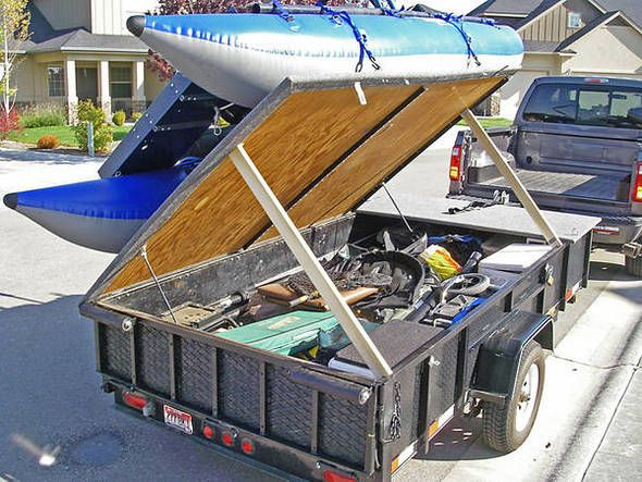 Great trailer idea for small craft small catamarans for Fish camping boat