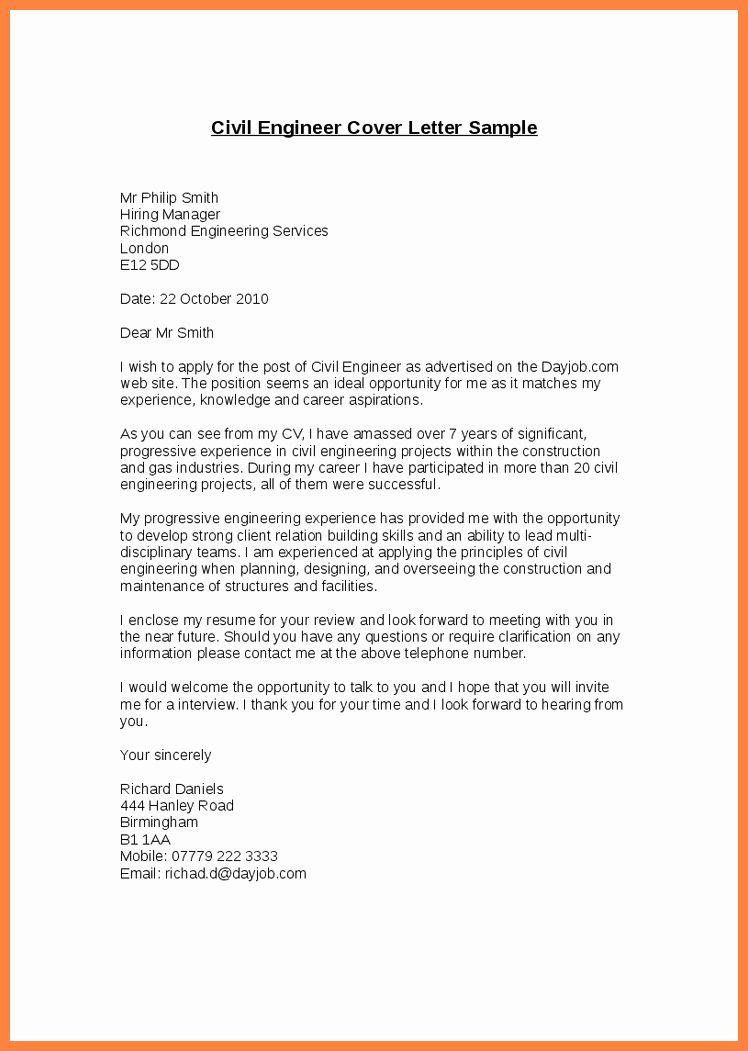 Engineering Internship Cover Letter Luxury Application Letter Civil Engineer Cover In Job Application Letter Sample Civil Engineering Motivation Letter For Job