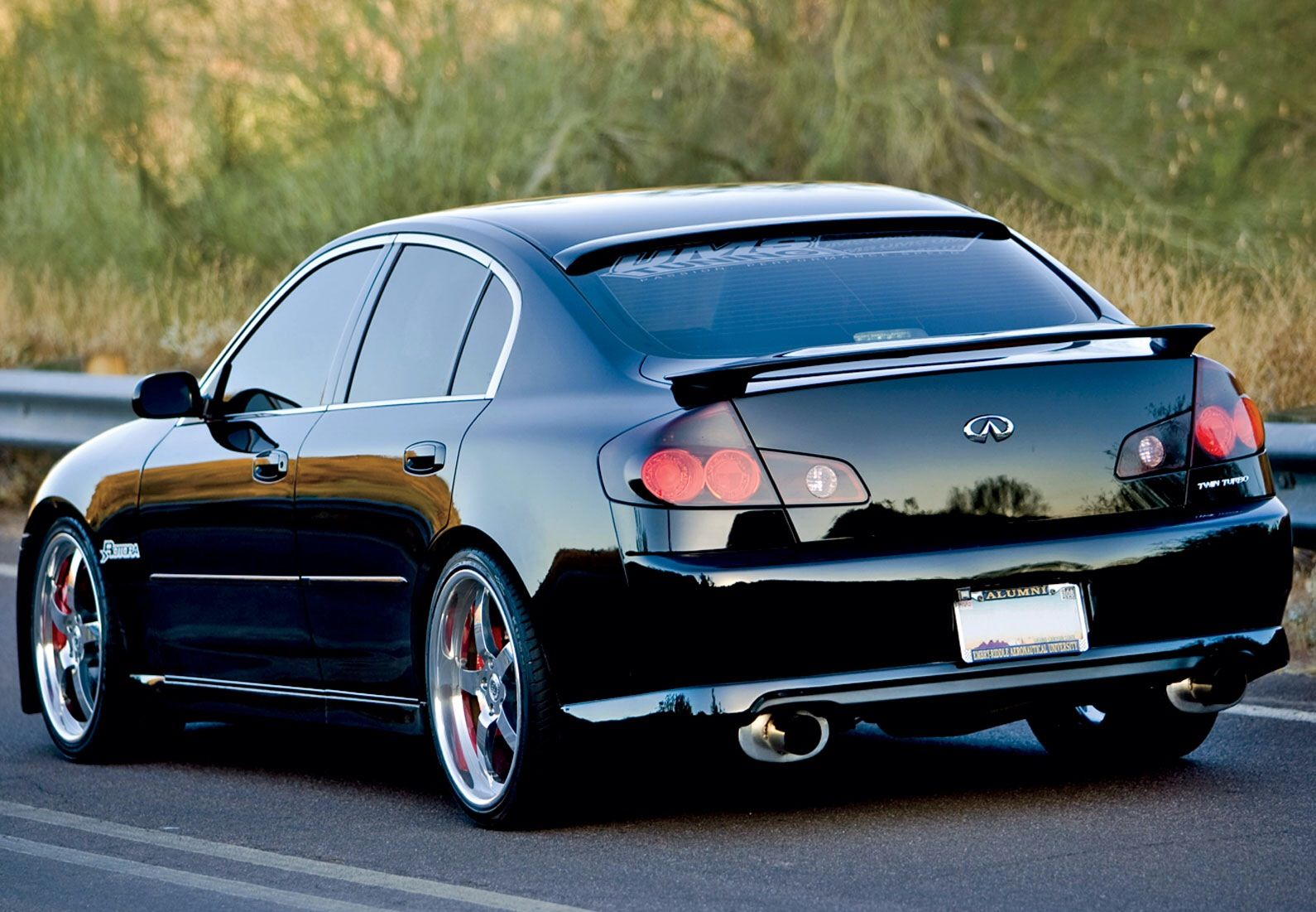 G35 Modified Black Infiniti 2003 Infiniti Sedan Car