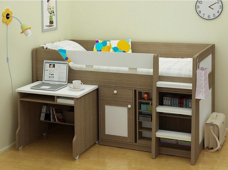Best Childrens Beds Midsleeper Bed With Desk And Storage 640 x 480