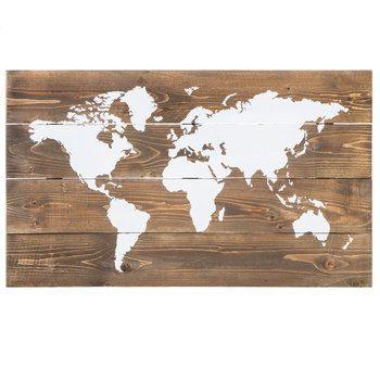 White World Map Wood Wall Decor | Hobby Lobby | 5816442 | Farmhouse ...