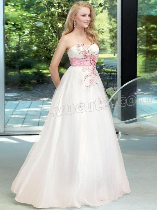 9d9f7540cde Ball Gown Sweetheart Hand-Made Flower Sleeveless Floor-length Tulle Prom  Dress