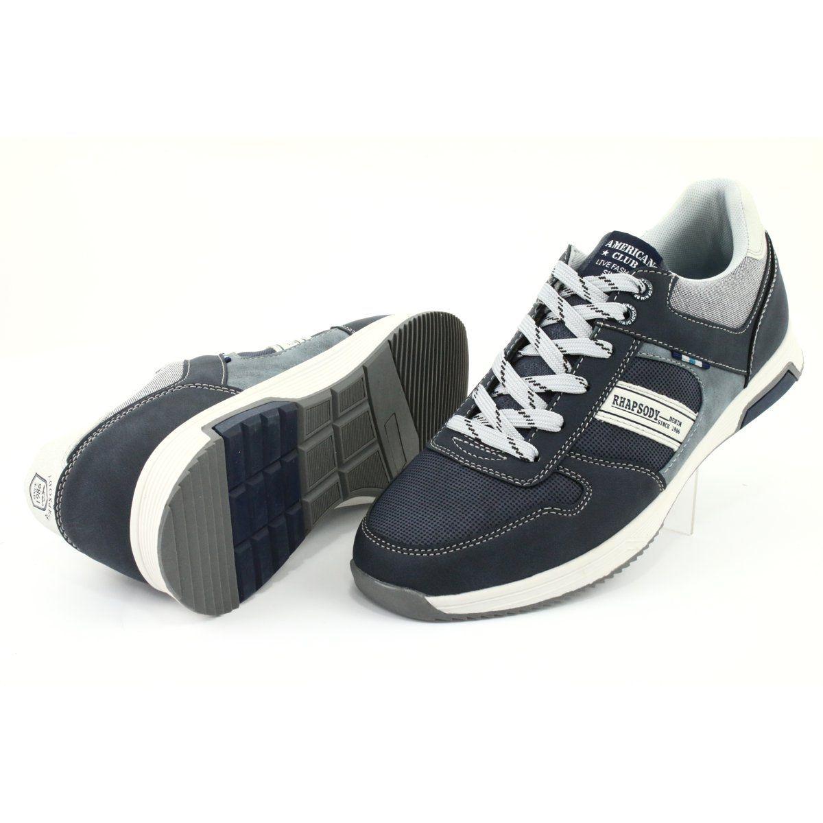 Adi Buty Meskie Sportowe American Club Rh01 Granatowe Niebieskie Szare Adidas Samba Adidas Samba Sneakers Shoes