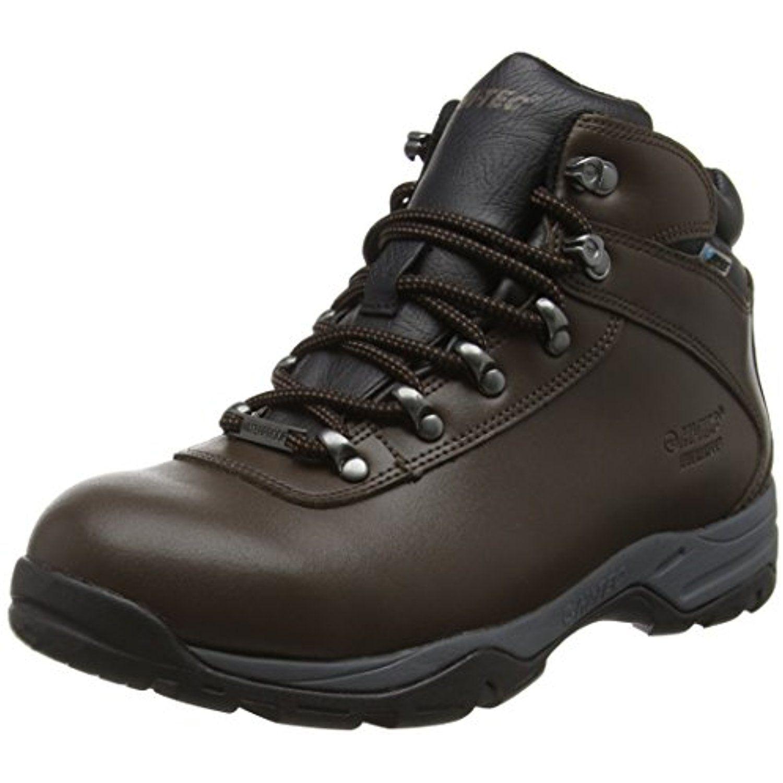 Hi-Tec V-Lite Walk Lite Witton Waterproof, Zapatos de Low Rise Senderismo Hombre, Marrón (Dark Chocolate/Brown/Core Gold 041), 41 EU