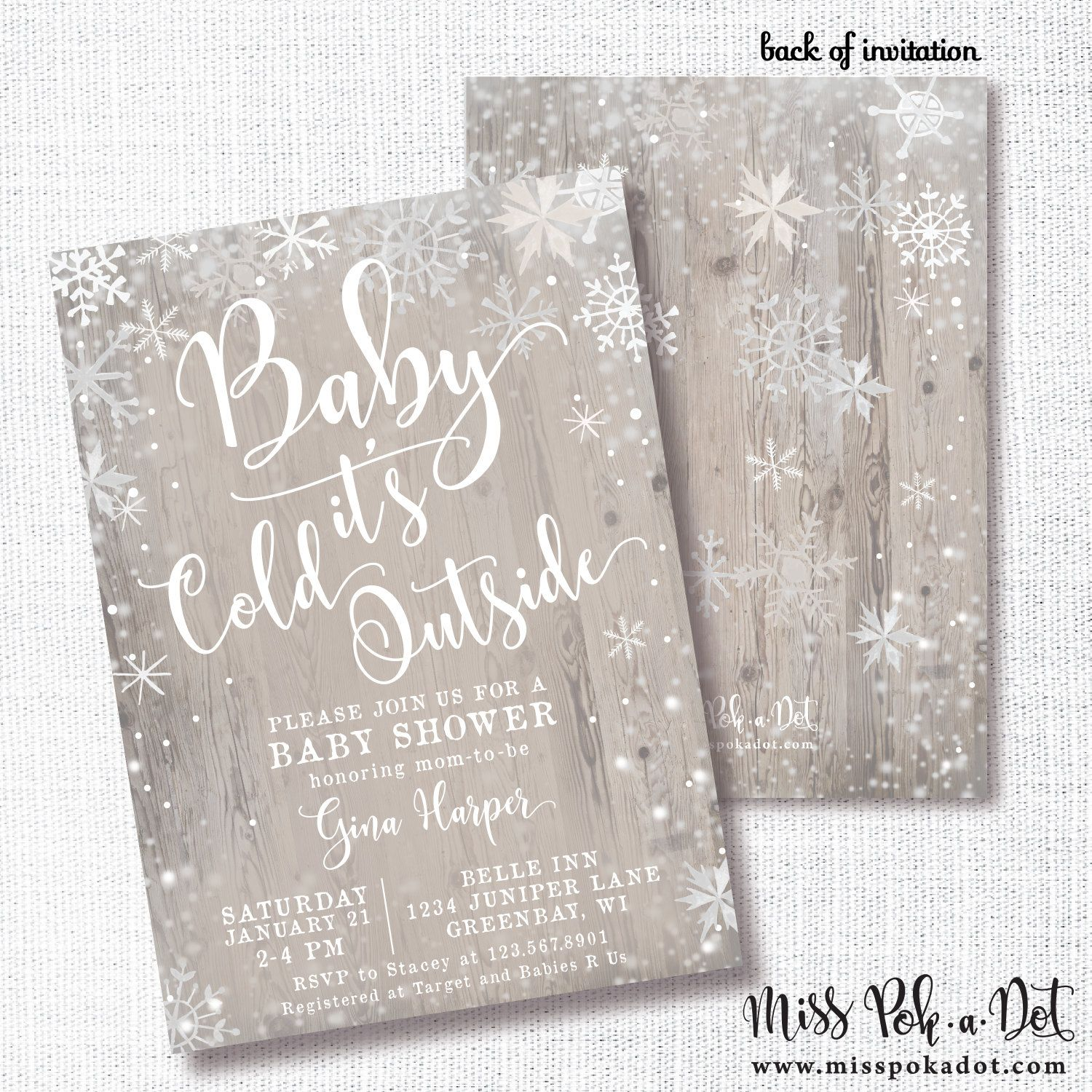 Baby It\'s Cold Outside Baby Shower Invitation, Printable, Neutral ...