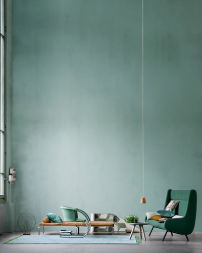 Grey Wall With Seafoam Green Accent Wall: Sage Green, Seafoam Green, Mustard Yellow, Baby Blue