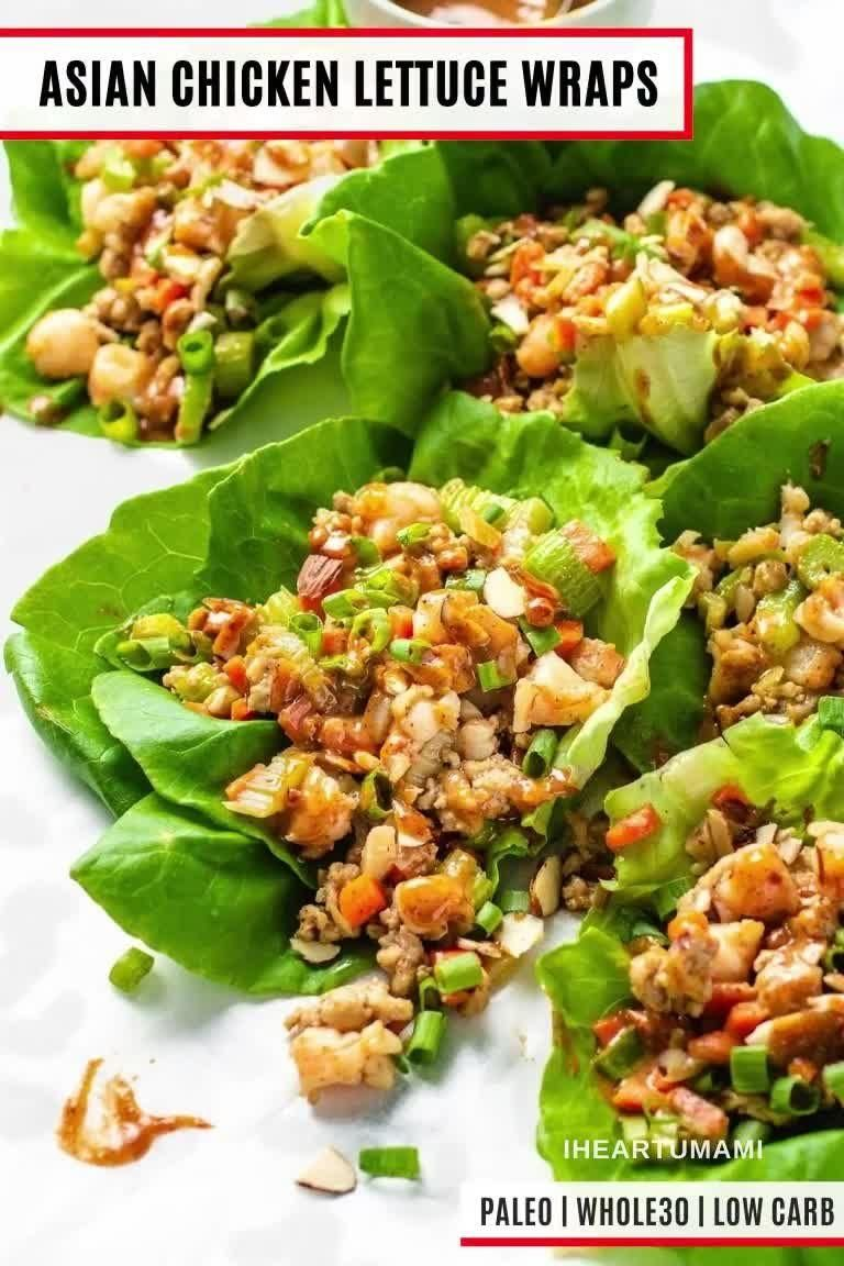 Asian Chicken Lettuce Wraps (paleo/whole30/low car