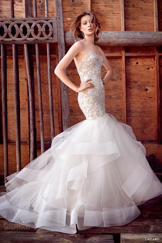 vestidos de novia corte sirena 2019