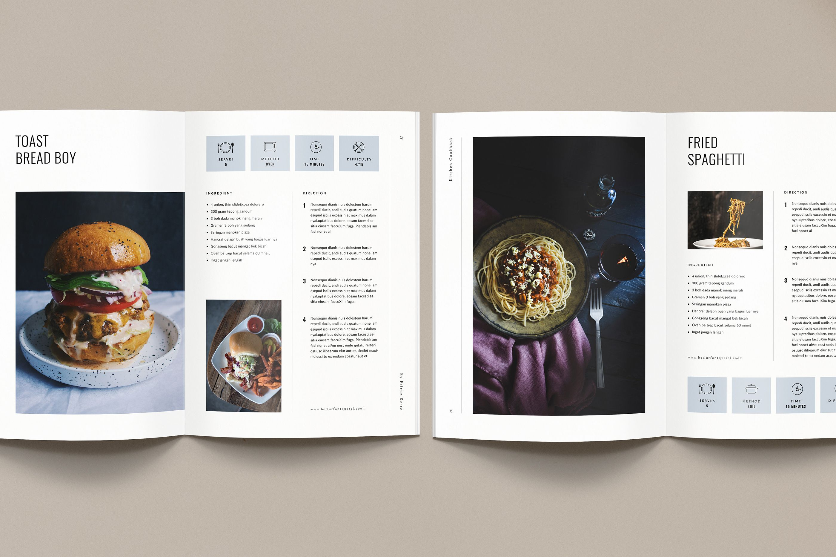 Cookbook recipe book on behance with images recipe