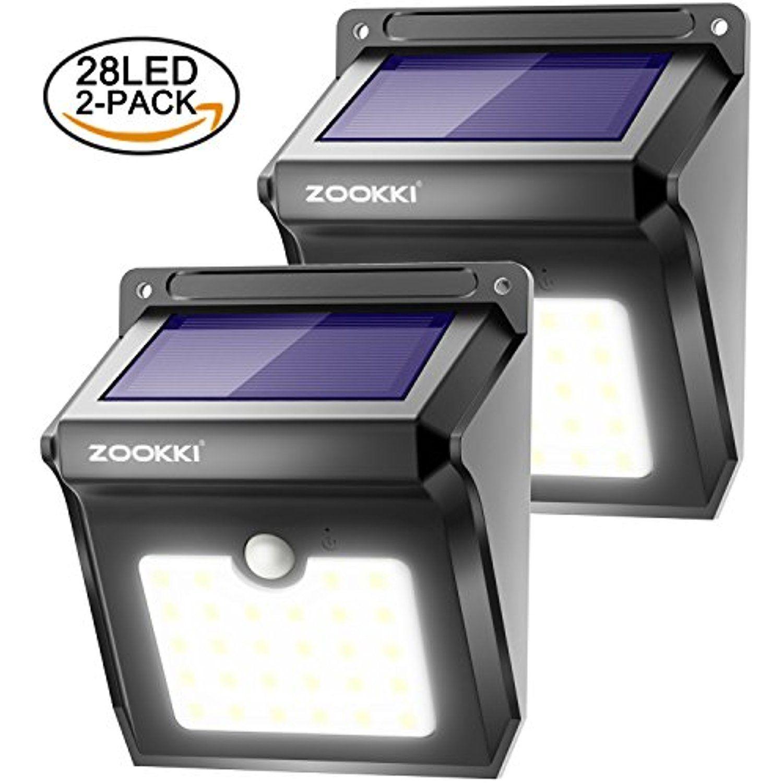 Zookki Wireless Solar Lights 28 Leds Solar Powered Motion Sensor