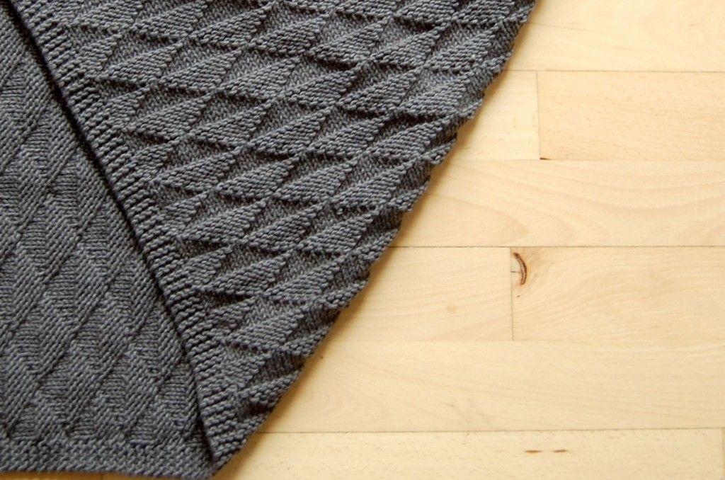 strikket tæppe til baby