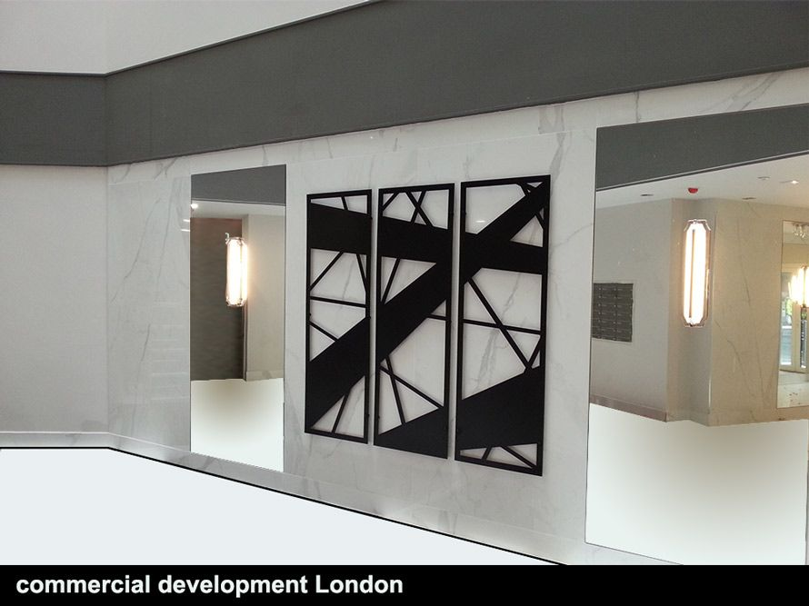 Commercial Development Abstract Lines Wall Art Wall Panel Design