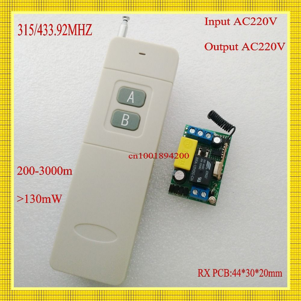 $12.75 (Buy here: https://alitems.com/g/1e8d114494ebda23ff8b16525dc3e8/?i=5&ulp=https%3A%2F%2Fwww.aliexpress.com%2Fitem%2FLight-Lamp-LED-Bulb-Remote-Switch-AC-220V-1CH-Mini-Relay-Receiver-Transmitter-Long-Distance-far%2F32546792378.html ) Light Lamp LED Bulb Remote Switch AC 220V 1CH Mini Relay Receiver Transmitter Long Distance far remote 200-3000m 315/433Wireless for just $12.75