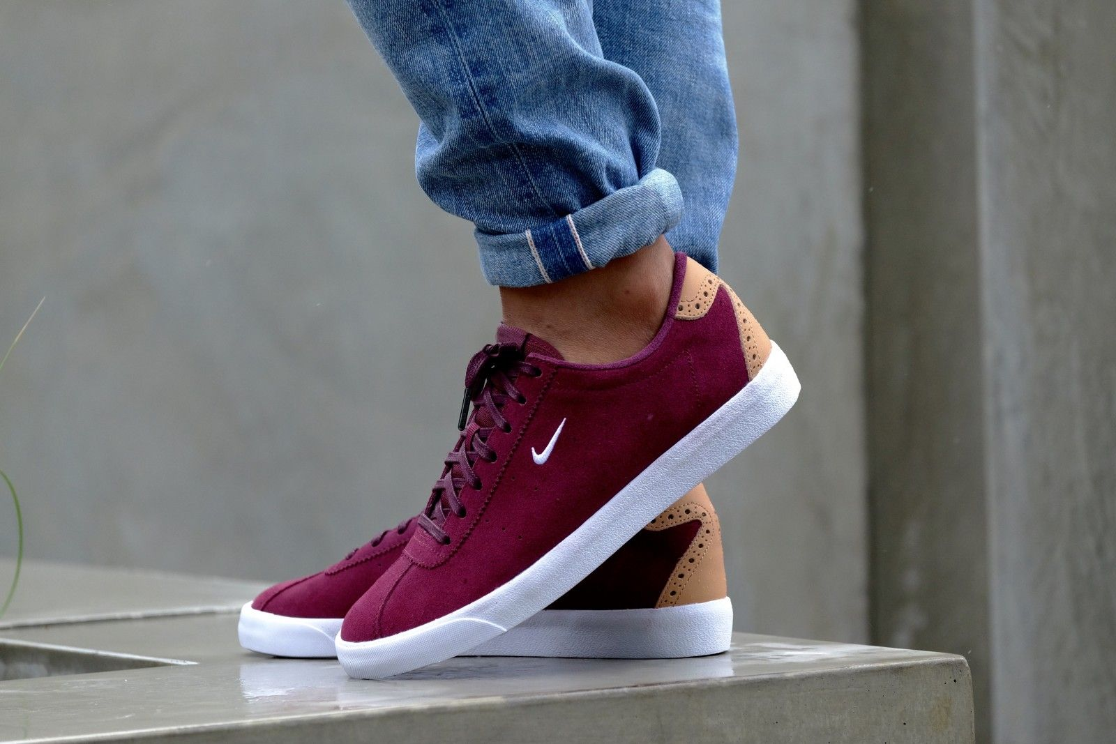 buy online 13032 49a64 Nike Match Classic Suede Night Maroon  White-Vachetta Tan - 844611-601