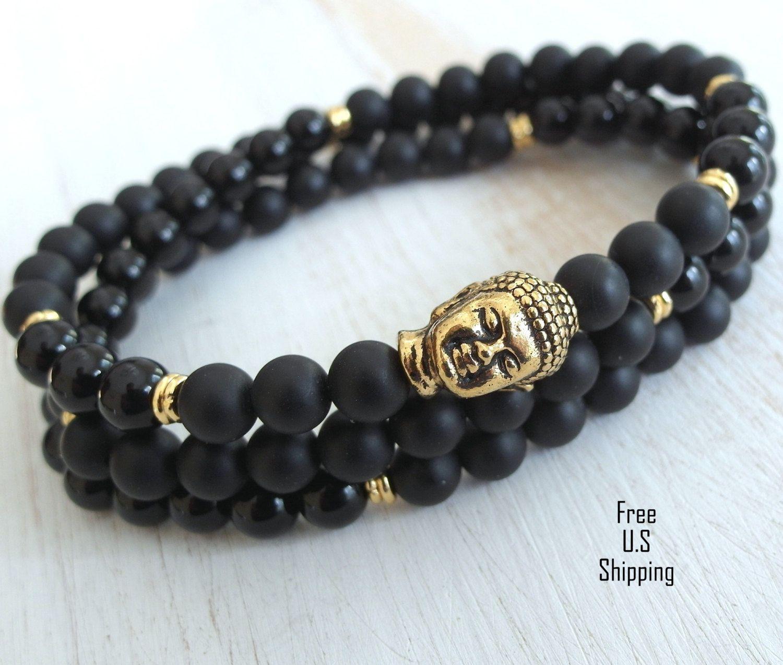 Buddha bracelet buddha necklace onyx bracelet menus bracelet