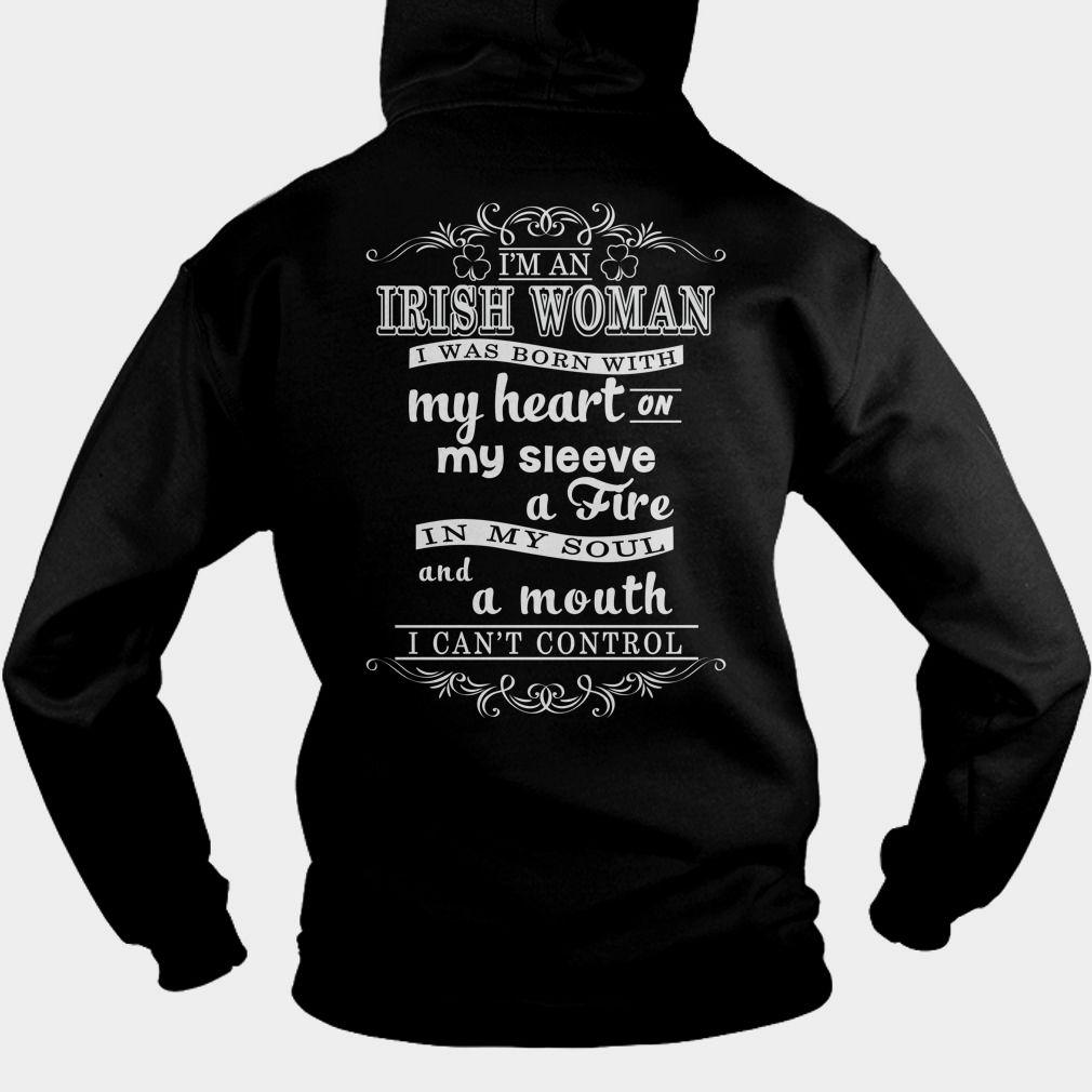 I am an irish woman 53 oz preshrunk 100 cotton dar