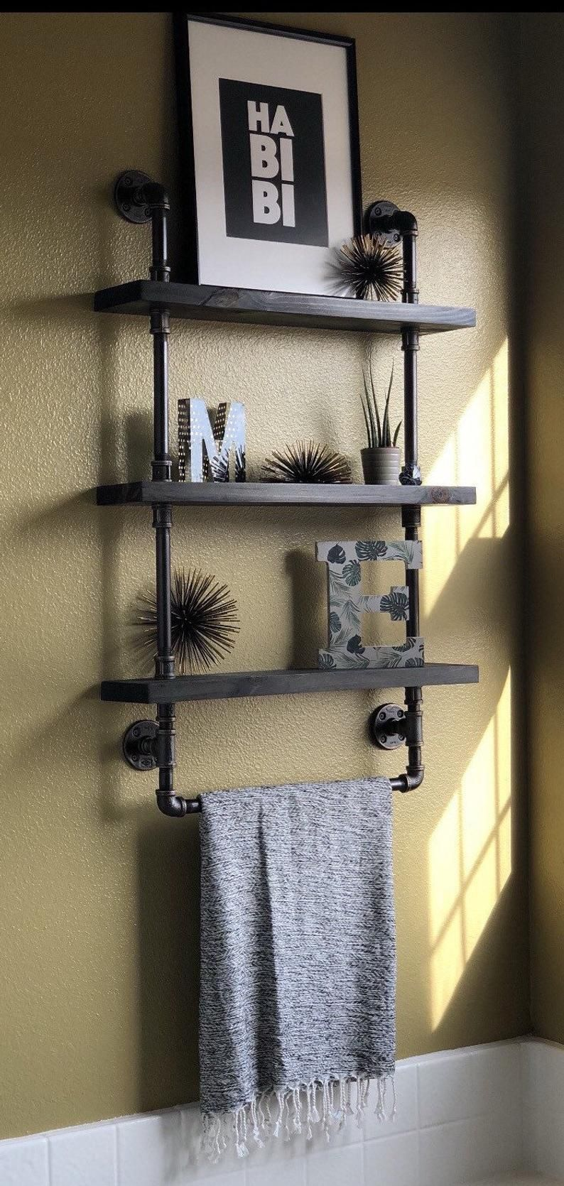 Pin On House Industrial pipe bathroom decor