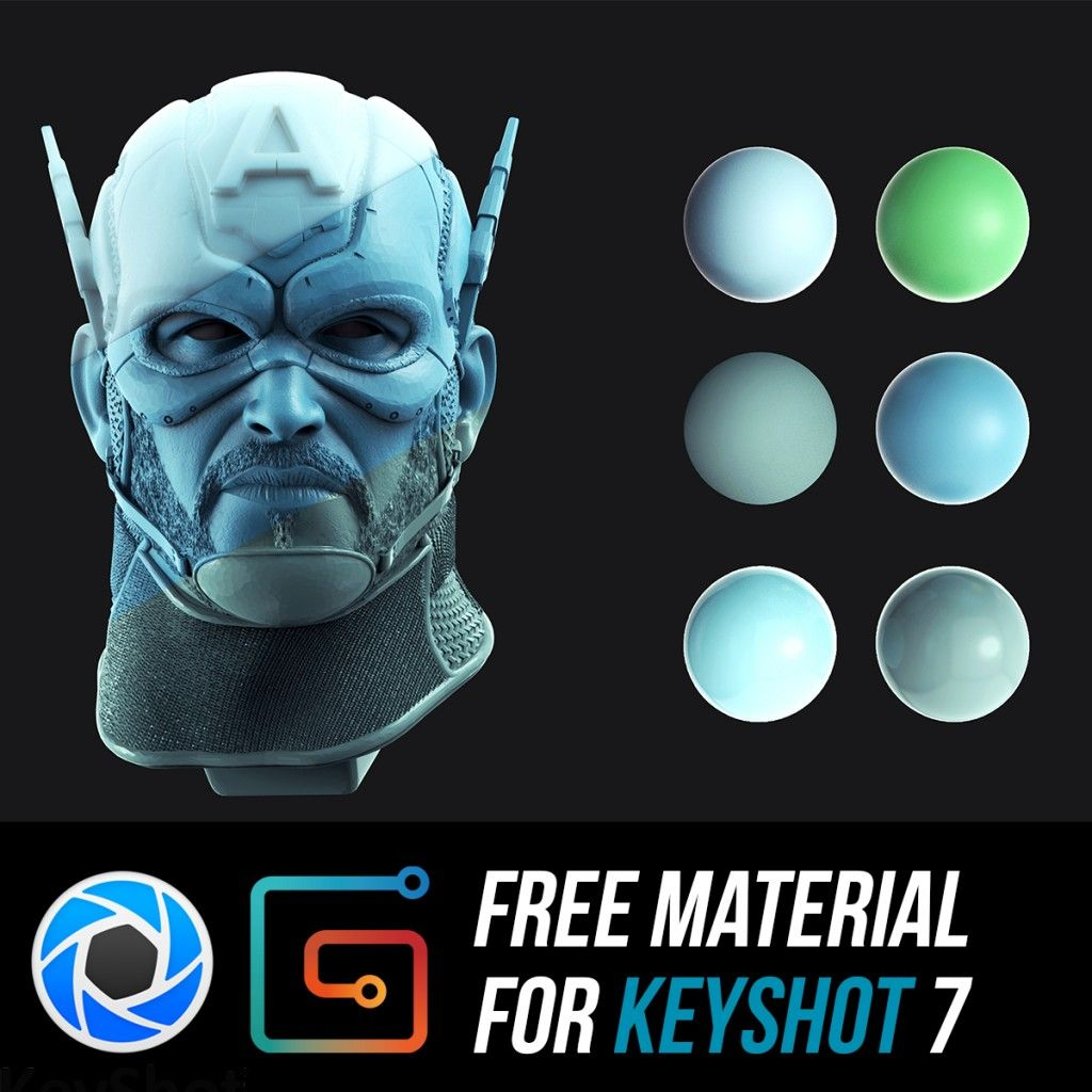 Download an awesome free Materials for Keyshot 7 By: Julio Cesar