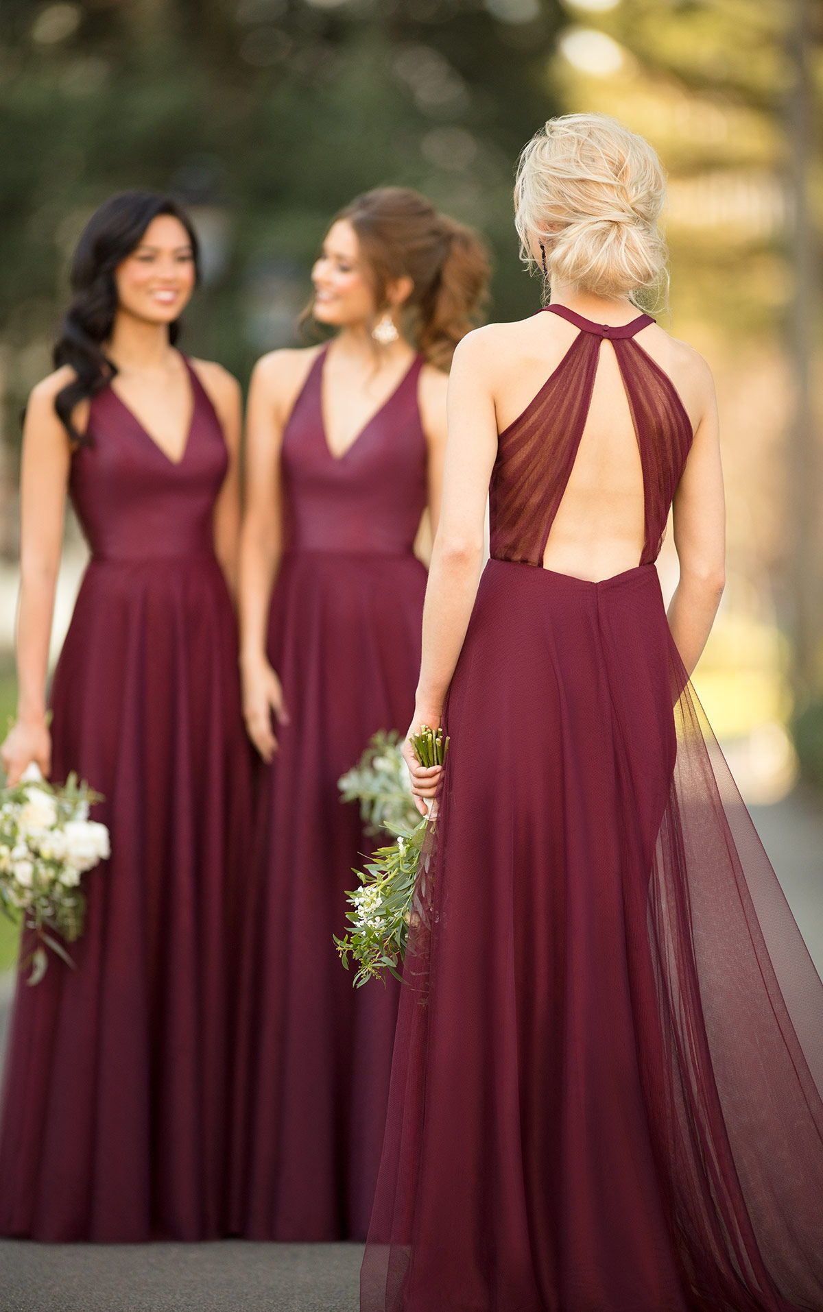 2019 Wedding Colors Trend Wine Bridesmaid Dresses Wedding Weddinginspirat Wine Bridesmaid Dresses Christmas Bridesmaid Dresses Wine Color Bridesmaid Dress