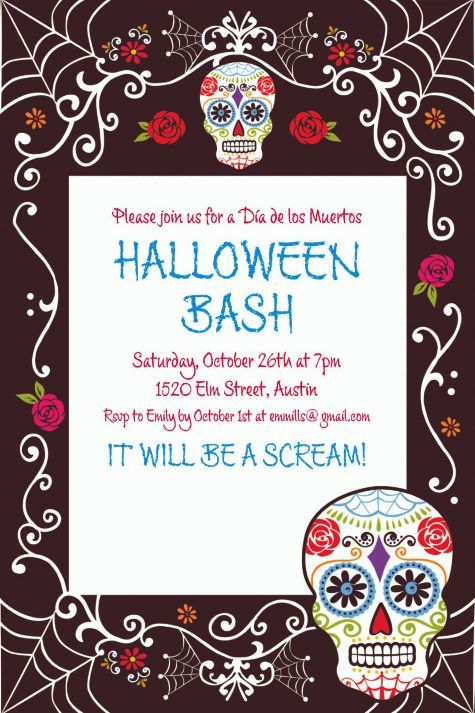 Day Of The Dead Invitation Party City Party City Birthday Day Of The Dead Party Birthday Party Invitations