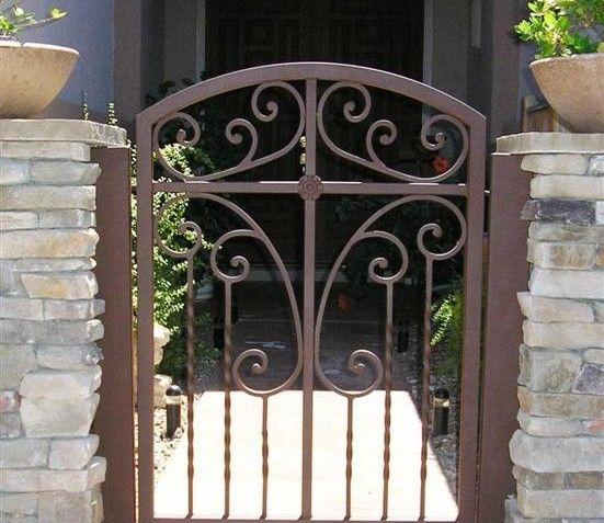 Courtyard Gates For The Home Iron Garden Gates