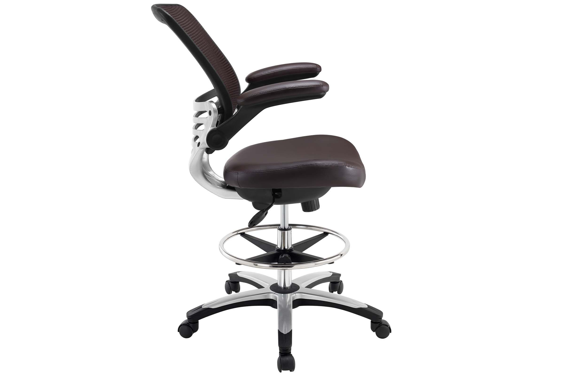 Edge drafting chair in brown by modway in 2020 drafting