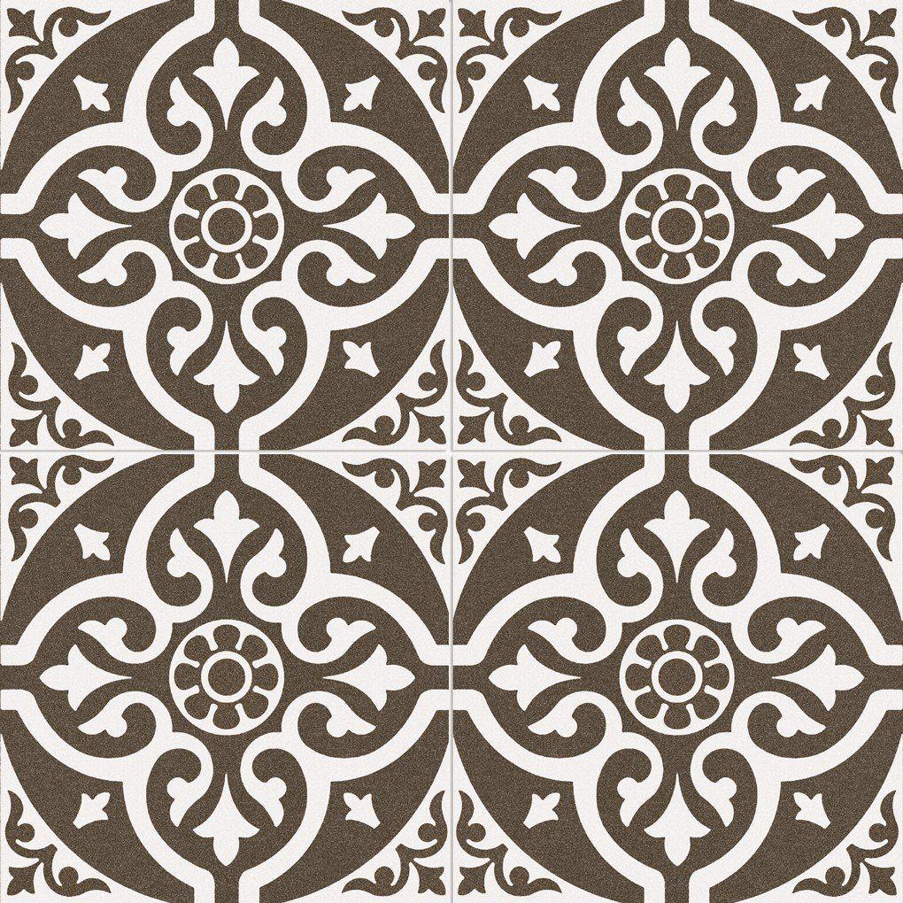 Victorian Style Earth Floor Tile Black Feature Wall Tile Floor Grey Flooring