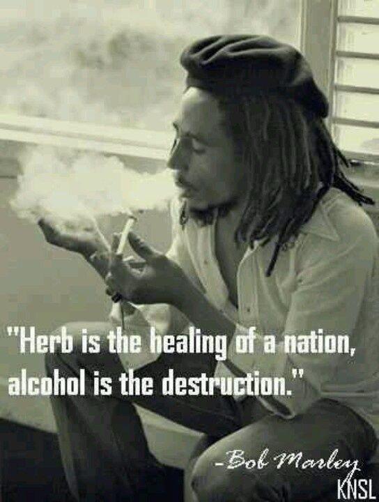 Bob marley quotes weed