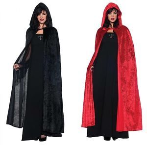 Cloak Hooded Cape Adult Medieval Renaissance Costume Fancy Dress