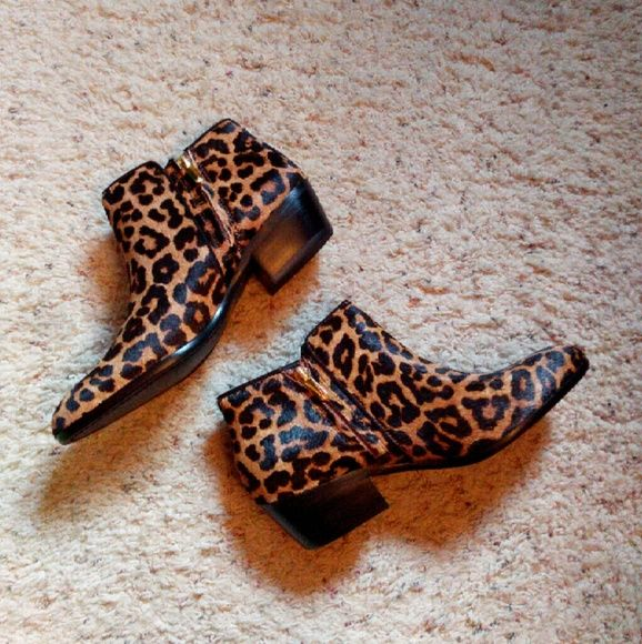 a848dd0fa3583b NWT Sam Edelman Petty leopard calf hair ankle boot New in box Sam Edelman  petty ankle boots. Leopard calf hair. Gorgeous boots! I just…