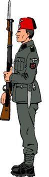 """Tirador de la División """"Kama"""" (voluntarios croatas) en uniforme de paseo."""
