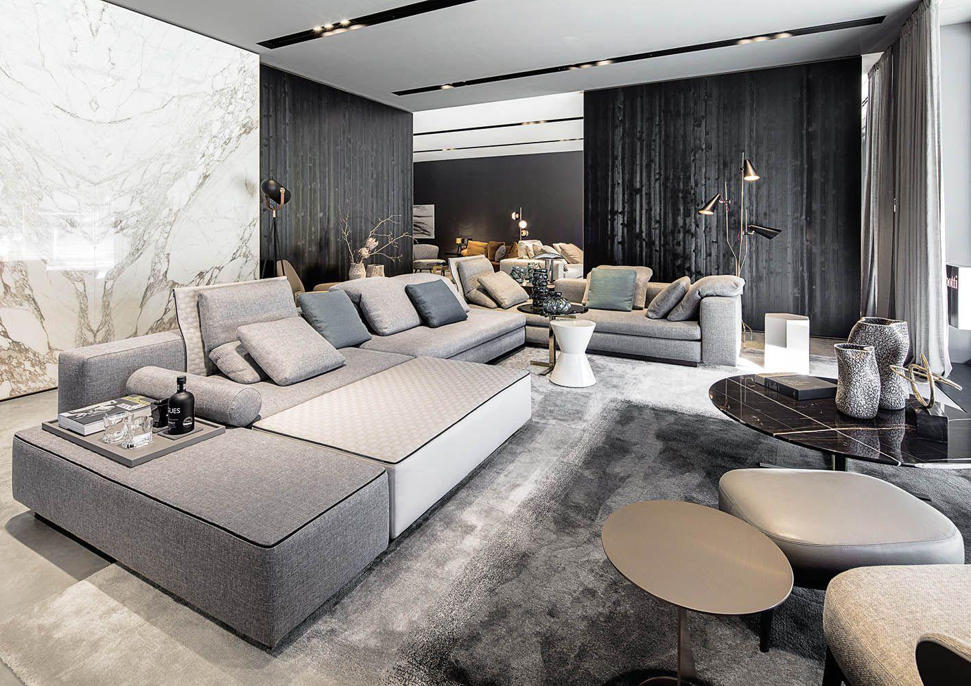 Munchen Flagship Store Minotti Munchen Flagship Store Interior Design Living Room Interior Design Spacious Living Room