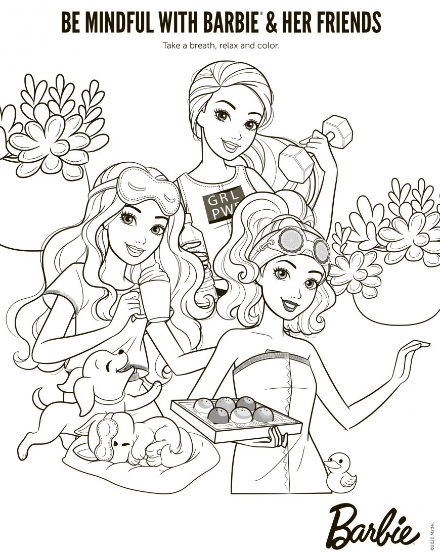 Barbie New Coloring Pages With Fun Activity For Kids In 2020 Coloring Pages Cute Coloring Pages Mermaid Coloring Pages