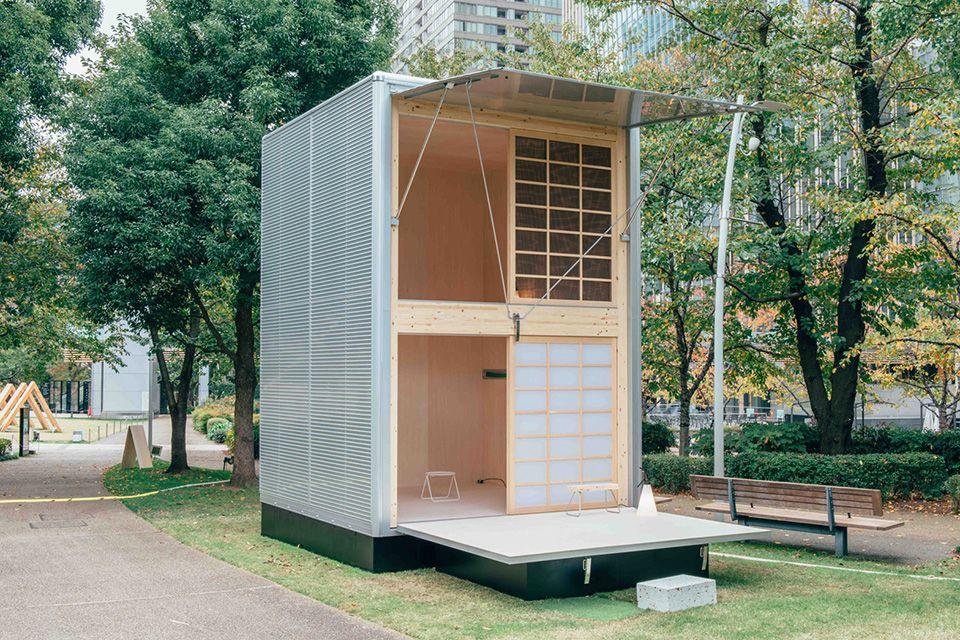 Japanese lifestyle brand MUJI unveils three new prefab cabins, each designed by Konstantin Grcic, Jasper Morrison and Naoto Fukasawa.