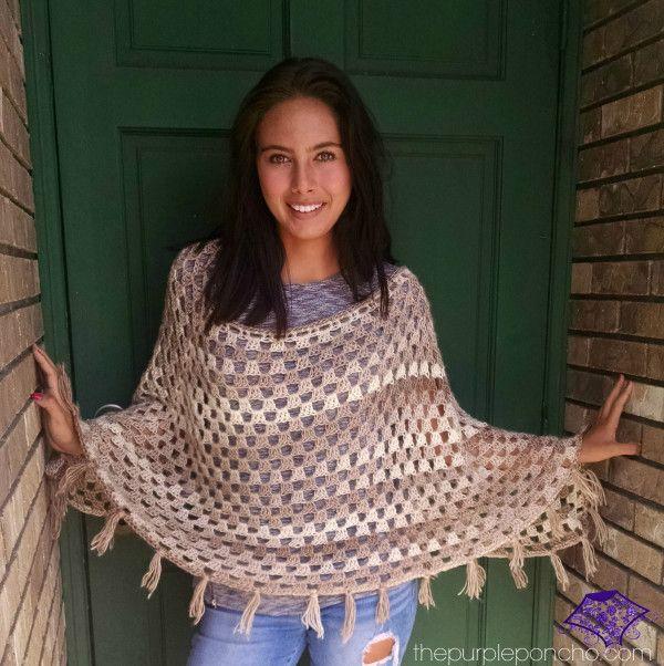 Timeless Boho Poncho by Carolyn Calderon   Free Patterns (Crochet ...