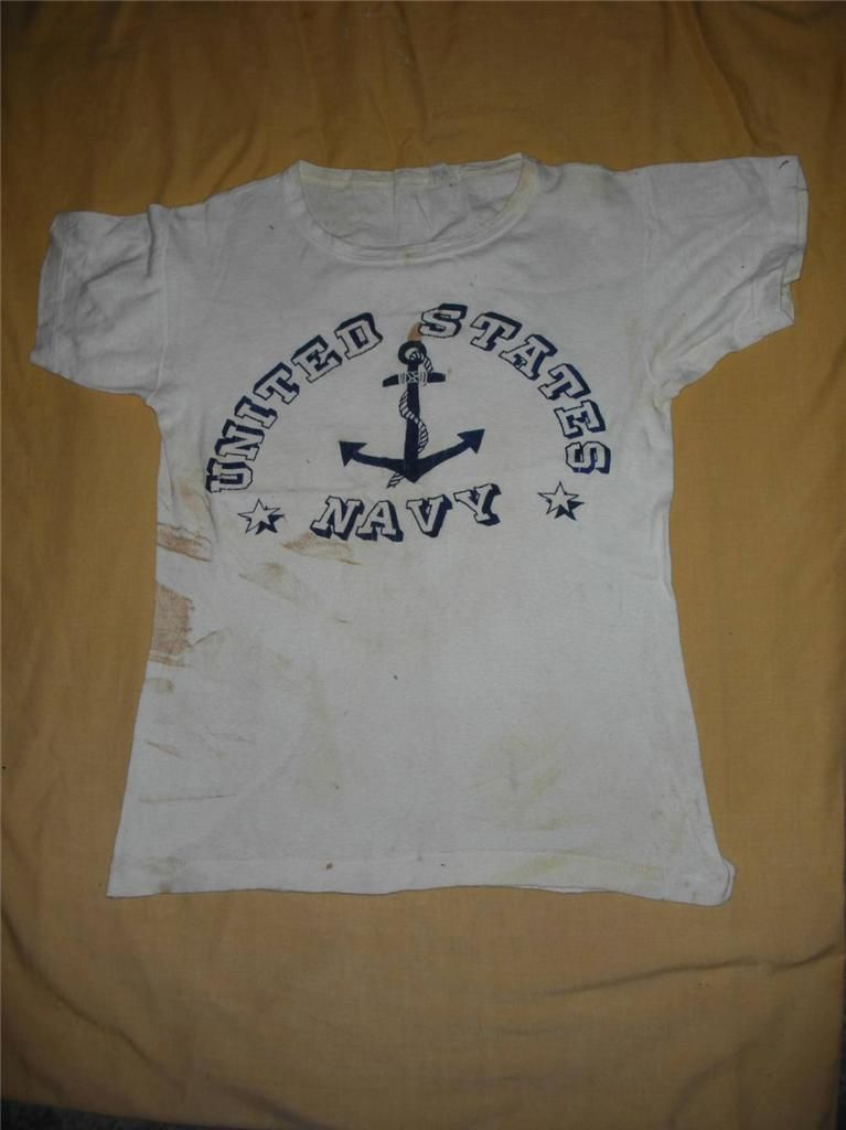 244ae9900a8c Vintage WW2 US NAVY 1940's T Shirt | Men's Vintage Clothing | Mens ...