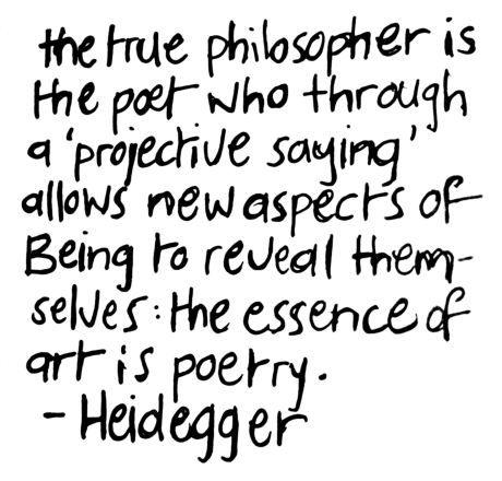 heidegger quote