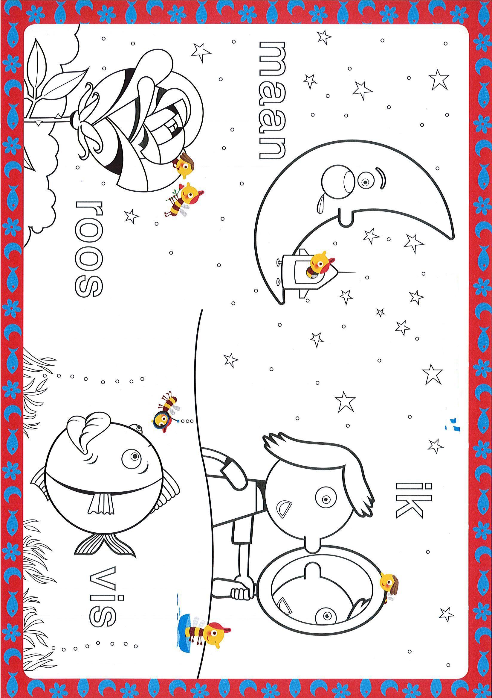 Kleurplaten Maan Roos Vis.Kern 1 Kleurplaat Ik Maan Roos Vis Ideeen Groep 3 Estudio