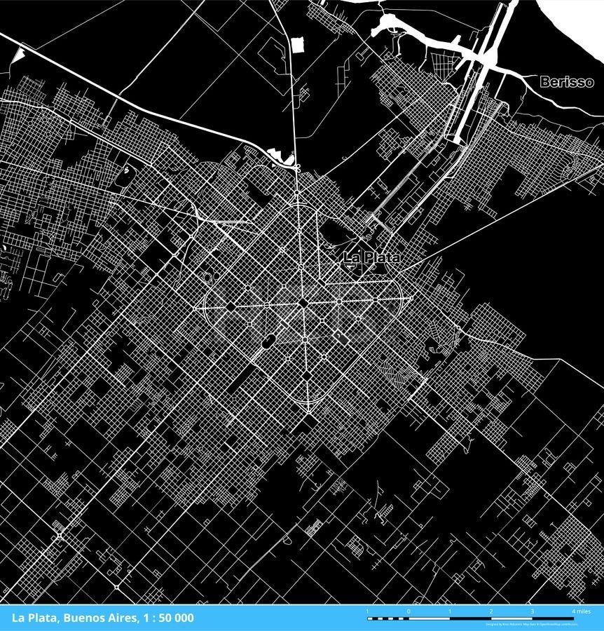 La Plata Buenos Aires Argentina Download Map