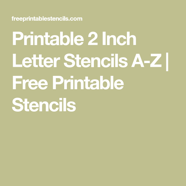 This is a picture of Printable Alphabet Stencils pertaining to lettering