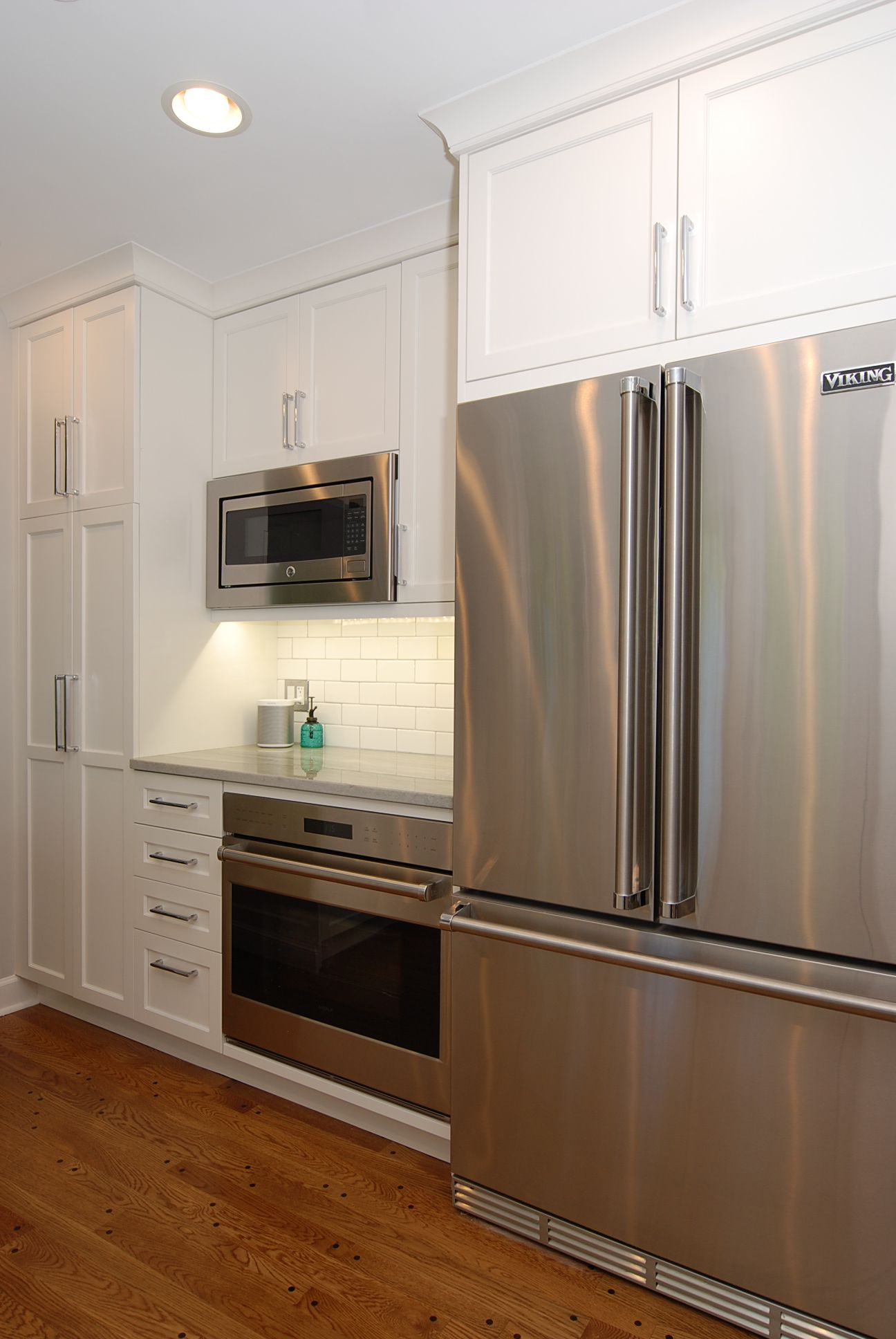 Ordinaire Viking Refrigerator, Counter Top Depth Refrigerator, Built In Microwave, GE  Spacemaker Microwave